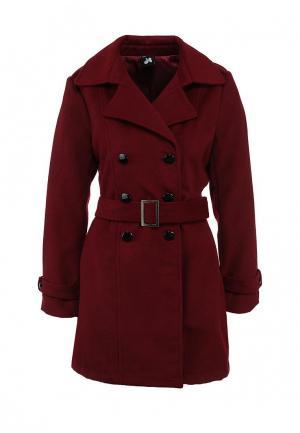 Пальто Catwalk88. Цвет: бордовый