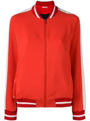 Куртка бомбер с контрастными панелями P.A.R.O.S.H.. Цвет: красный