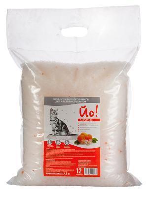 Силикагелевый наполнитель для кошачьего туалета Йо!, Абрикос 12л Йо!. Цвет: прозрачный, коралловый