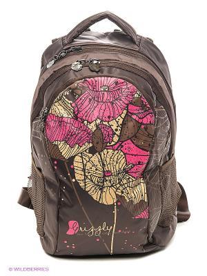 Рюкзак Grizzly. Цвет: коричневый, розовый