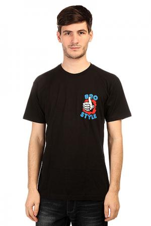 Футболка  Ripper Thumb Black Bro Style. Цвет: черный