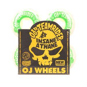 Колеса для скейтборда  Team Rider Ez Edge Insaneathane White/Green 101A 54 mm Oj. Цвет: белый,зеленый