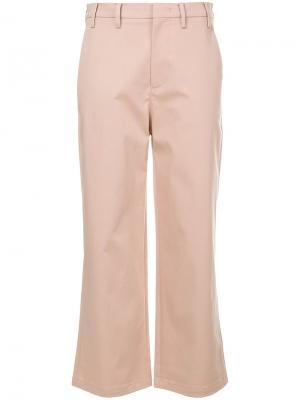 Укороченные расклешенные брюки Nº21. Цвет: none