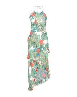 Платье до колена TENAX. Цвет: светло-зеленый