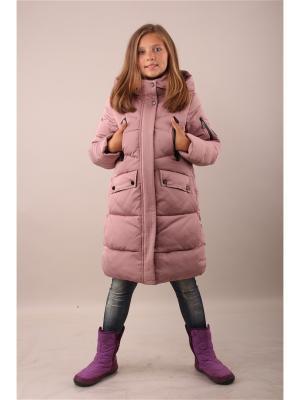Пальто Fobs. Цвет: розовый