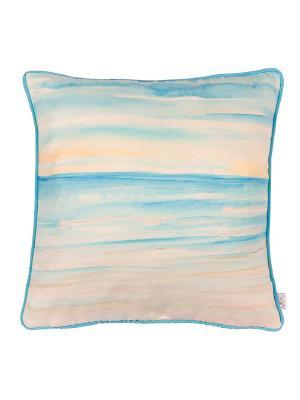 Чехол для декоративной подушки  Голубой океан Apolena. Цвет: голубой