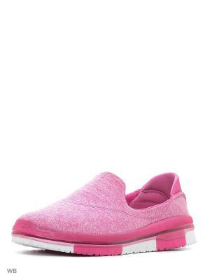 Слипоны Crosby. Цвет: розовый