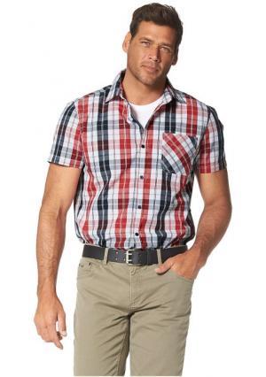 Рубашка MANS WORLD MAN'S. Цвет: красный/черный/белый