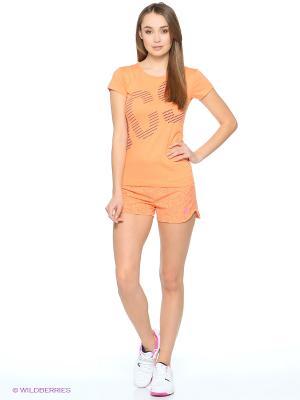 Футболка GRAPHIC SS TEE ASICS. Цвет: фиолетовый, оранжевый
