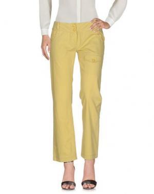 Повседневные брюки GAETANO NAVARRA. Цвет: кислотно-зеленый