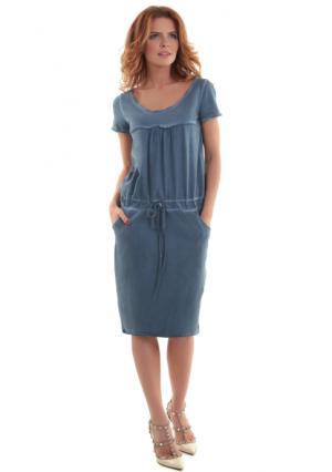 Платье MY STYLE. Цвет: синий