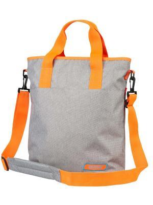Сумка Меркурий Target. Цвет: серый, оранжевый