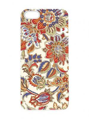 Чехол для iPhone 5/5s Райский сад Chocopony. Цвет: оранжевый, белый, фиолетовый