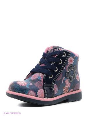 Ботинки Indigo kids. Цвет: синий, розовый