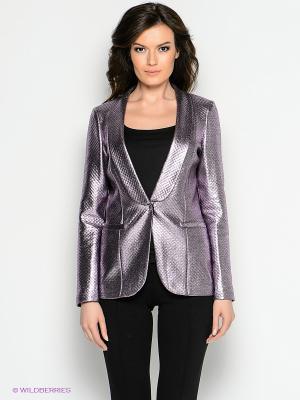 Пиджак COMPAGNIA ITALIANA. Цвет: бледно-розовый, серебристый