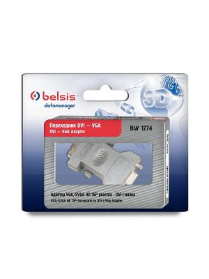 Адаптер (переходник) VGA розетка / DVI-I вилка Belsis. Цвет: серый