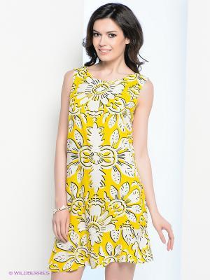 Платье Vis-a-vis. Цвет: желтый, белый