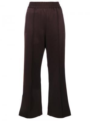 Укороченные спортивные брюки Marc Jacobs. Цвет: коричневый
