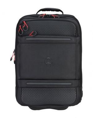 Чемодан/сумка на колесиках DELSEY. Цвет: черный