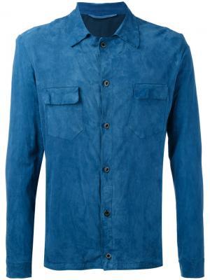 Рубашка с карманами Salvatore Santoro. Цвет: синий