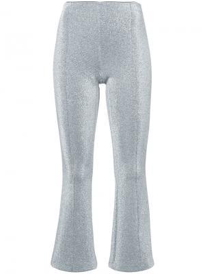 Укороченные брюки с отблеском Rosetta Getty. Цвет: металлический