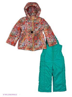 Комплект одежды Милашка Сьюзи. Цвет: зеленый, оранжевый