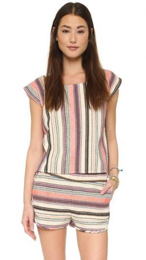 Пляжная блуза в полоску Surf Bazaar. Цвет: полоска