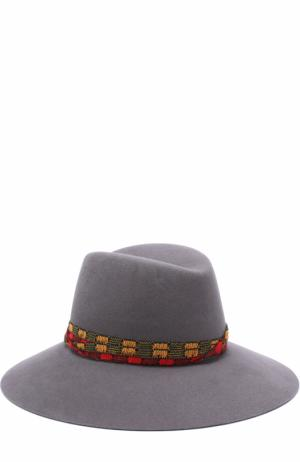 Фетровая шляпа Kate с тесьмой Maison Michel. Цвет: серый