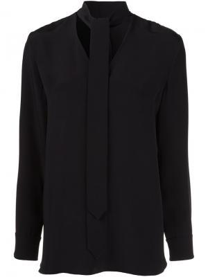 Блузка с завязкой Edun. Цвет: чёрный