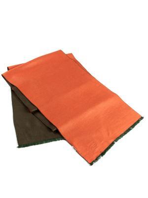 Шарф Franco Frego. Цвет: зеленый, оранжевый