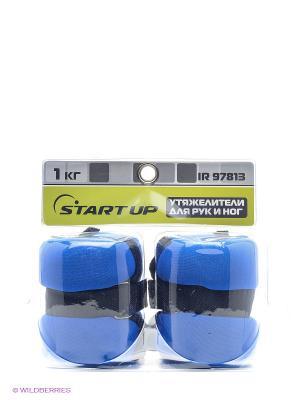 Утяжелители для рук и ног Start Up. Цвет: синий, черный