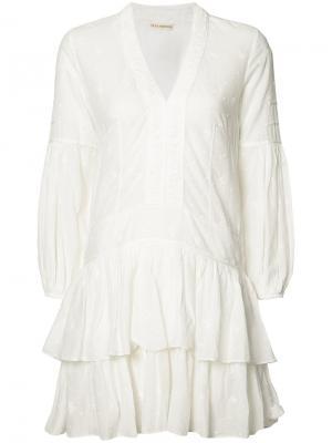 Платье Jaclyn с V-образным вырезом Ulla Johnson. Цвет: белый
