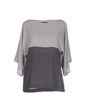 Блузка TRY ME. Цвет: серый