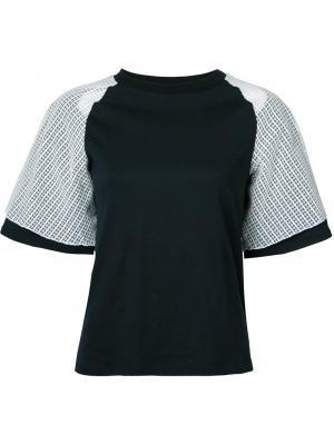 Многослойная футболка Facetasm. Цвет: чёрный