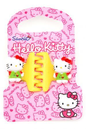 Заколка-крабик, 2 шт. Hello Kitty. Цвет: желтый