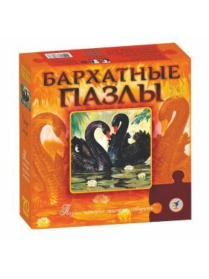 Бархатные пазлы. Черные лебеди Дрофа-Медиа. Цвет: оранжевый