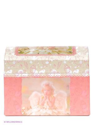 Шкатулка музыкальная для украшений Lisa Jane. Цвет: розовый