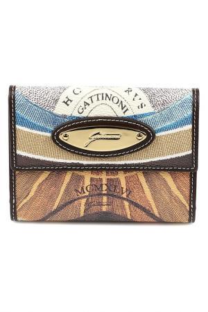 Кошелек Gattinoni. Цвет: brown, beige, blue