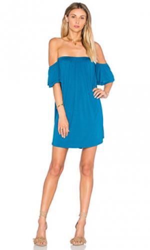Платье со спущенными плечами sophia VAVA by Joy Han. Цвет: синий