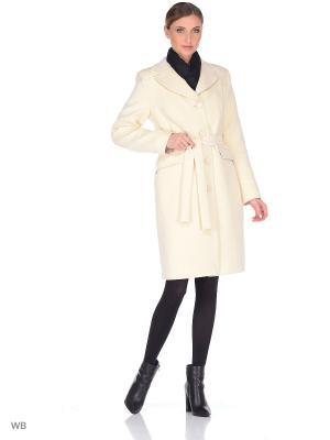 Пальто зимнее Миледи XP-GROUP. Цвет: молочный