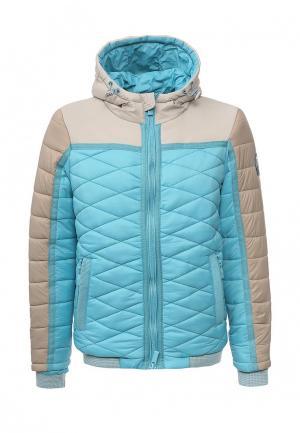 Куртка утепленная Dry Laundry. Цвет: голубой