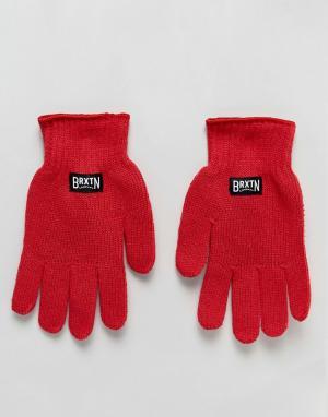 Brixton Перчатки Langley. Цвет: красный