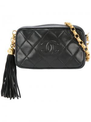 CC mark stitch fringe bijou chain bag Chanel Vintage. Цвет: чёрный