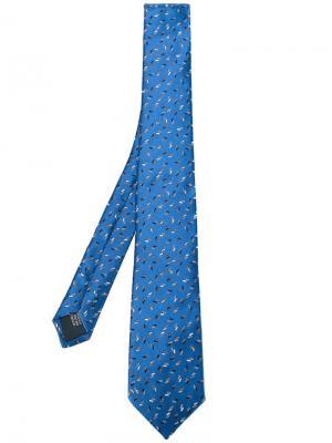 Галстук с вышивкой Lanvin. Цвет: синий