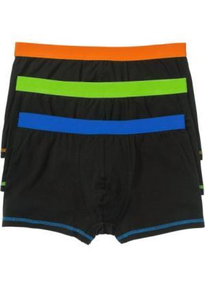Трусы-боксеры (3 шт.) (черный/цветные) bonprix. Цвет: черный/цветные