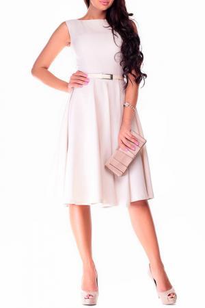 Платье-сарафан REBECCA TATTI. Цвет: светло-бежевый