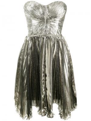 Loli pleated bandeau dress Maria Lucia Hohan. Цвет: металлический