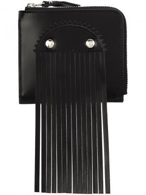 Визитница с бахромой Comme Des Garçons Wallet. Цвет: чёрный