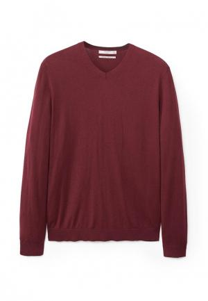 Пуловер Mango Man. Цвет: бордовый
