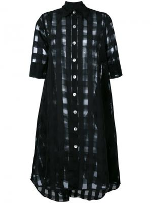 Sheer shirt dress Ultràchic. Цвет: чёрный